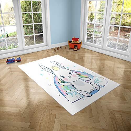 Oedim Konijnenkleed voor kinderen voor kamers PVC | 95 x 95 cm | PVC Tapijt | Vinyl Vloer | Huisdecoratie | Synthetische Vloer | Vloerbedekking voor kinderen |