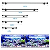 DOCEAN LED Aquarium Light,Waterproof Fish Tank Light Underwater Submersible Crystal Glass Lights Suitable for Saltwater and Freshwater(Blue and White) 48CM/19 inch