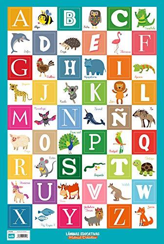 Erik LPE269 - Póster educativo, alfabeto español