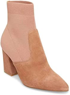 Steve Madden Womens Reece Fabric Pointed Toe Ankle Chelsea, Tan Suede, Size 8.5