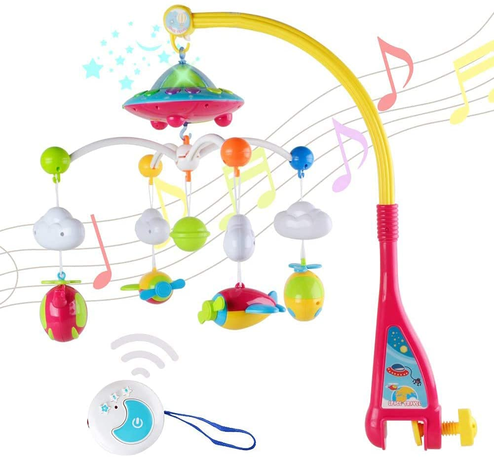 Year-end gift Baby Musical Cot Mobile Bed Manufacturer direct delivery Bell Year Old Rattle Remote 0-1