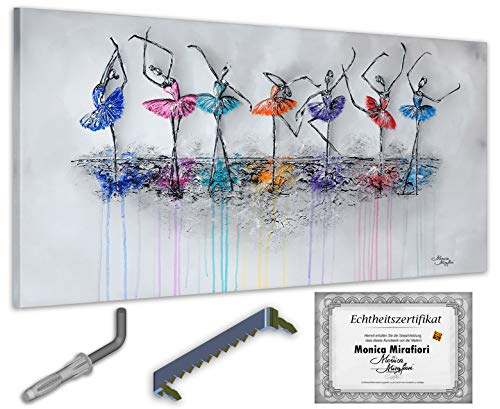 exclusive-gallery I Monica Mirafiori I Gemälde Dancing I 140x70cm | XXL Leinwandbild handgemalt | Acrylgemälde auf Leinwand | Sehr großes Acrylbild auf Keilrahmen