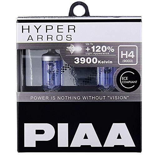 PIAA Hyper Arros H4 Coche Bombillas +120% (Pack Doble) HE900