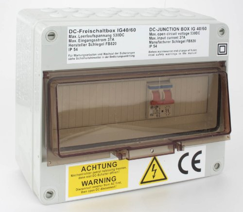 Fronius Schlegel DC-Freischaltbox IG 40/60 max. 8 Strings Junction Box Freischalter