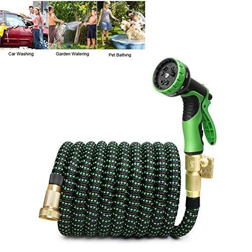 Uitbreidbare tuinslang, 10 patronen voor het wassen van auto, water geven gras/bloemen/ramen schoonmaken/vloer/uw hond wassen