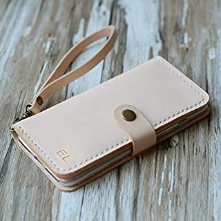 Leather iPhone 8/8 Plus / 6 / 6s case iPhone 7/7 Plus wallet case iPhone 6 / 6s / 6 plus / 6s Plus wallet case, iPhone SE / 5 / 5s wallet Case - Italian distressed oiled leather (Nature Tan)