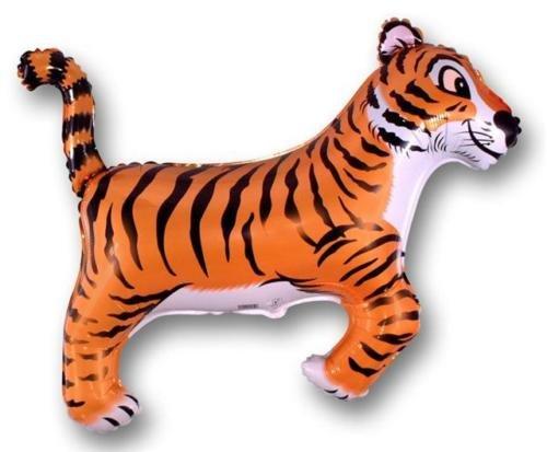 """Tigre - rayas negras 26 """"globo de la hoja - fiesta de la selva"""