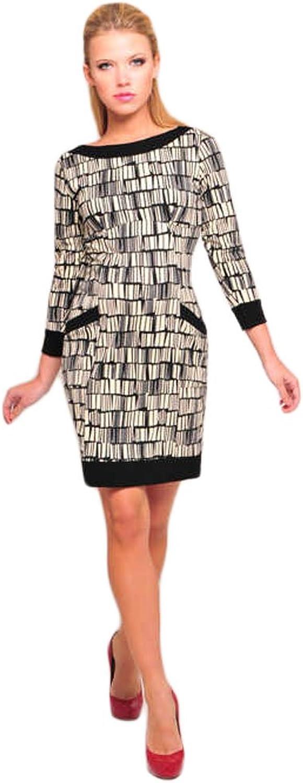 OLIAN Maternity Women's Black Ivory Abstract Print Gisela Dress