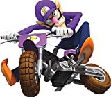 6 Inch Waluigi Motorcycle Cycle Bike Super Mario Kart Wii Bros Brothers Removable Wall Decal Sticker Art Nintendo 64 SNES Home Kids Room Decor Decoration - 6 1/2 by 5 3/4 inches