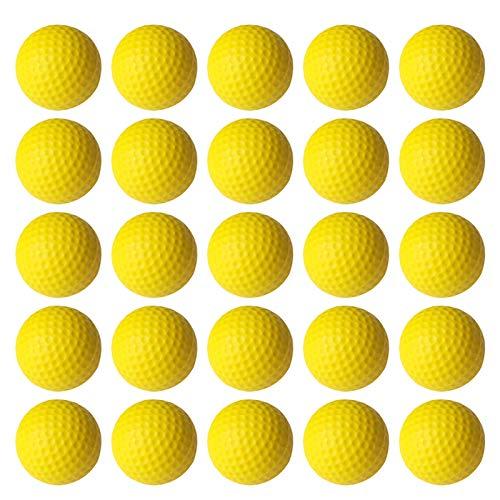VUXYMCY Lot de 25 balles de golf en mousse PU élastique pour entraînement en intérieur et en...