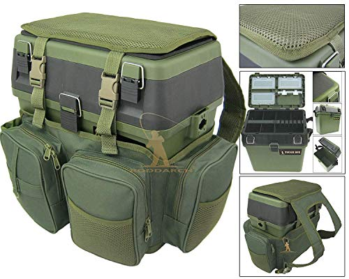 Roddarch Fishing Seat Box & Rucksack. Fly Sea Coarse Fishing Seat Backpack.