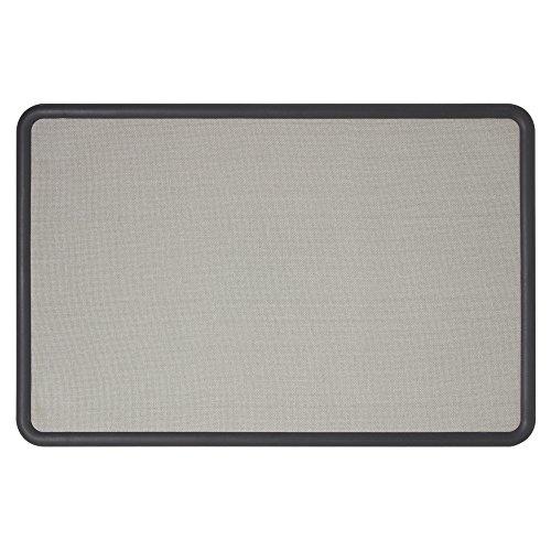 Quartet Bulletin Board, Fabric, 3 x 2 Feet, Office Bulletin Boards, Contour Gray Plastic Frame (7693G)