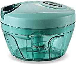 Pigeon by Stovekraft New Handy Mini Polypropylene Chopper with 3 Blades, Green
