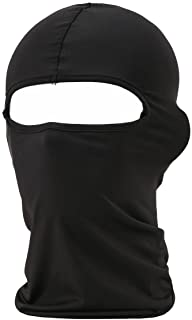 falapala Balaclava Tactical Face Mask Hood Neck Gaiter 1 Pack (Black)