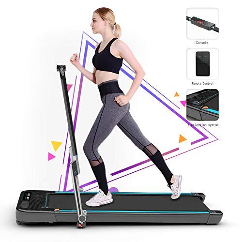 2WD Tapis roulant per la casa, Tapis roulant da Jogging Elettrico, Display LCD Palestra Cardio Fitness, Tapis roulant Elettrico motorizzato a Piedi da Corsa Esercizio Fitness (Black)