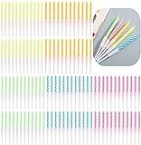 Popuppe - Velas de cumpleaños multicolores en espiral, 120 unidades, con...