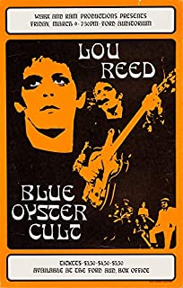 Lou Reed at the Ford Auditorium Poster Replica 13x19 Photo Print