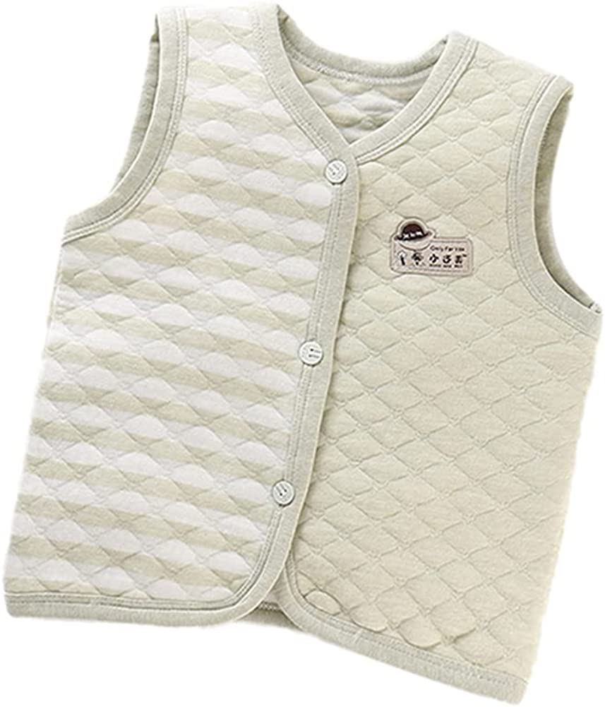 Shbidsxia Baby Boys Girls Winter Button Vest Free shipping anywhere in the nation Sleeveless Down Large special price Ou