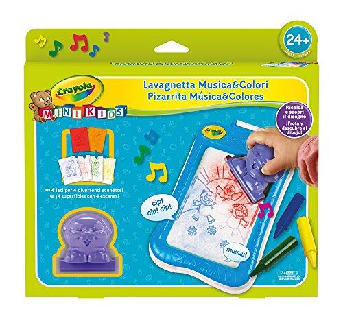 CRAYOLA- Mini Kids Lavagnetta da Disegno Musica&Colori, età 24 Mesi, Gioco e Regalo, 81-1306