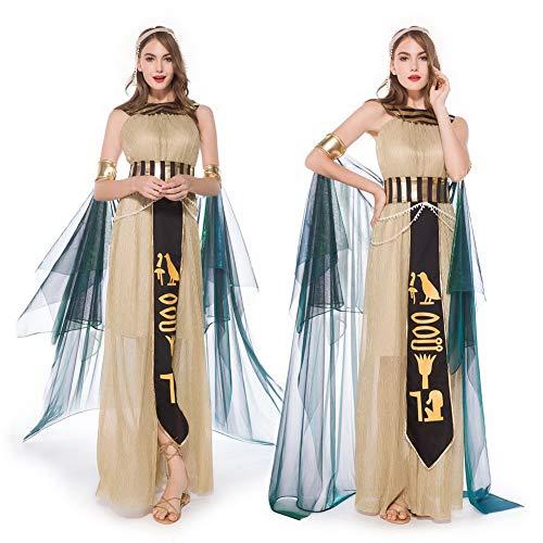 HOOLAZA Disfraz de mujer de diosa egipcia, elegante, exquisito, Cleopatra, sin mangas