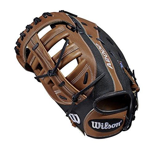 Wilson A2000 12.5-Inch SuperSkin Baseball Glove, Saddle Tan Black, Right (Left Hand Throw)