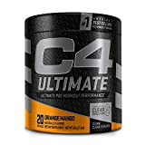 C4 Ultimate Pre Workout Powder Orange Mango - Sugar Free Preworkout Energy Supplement for Men & Women - 300mg Caffeine + 3.2g Beta Alanine + 2 Patented Creatines - 20 Servings