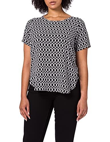 ONLY CARMAKOMA Damen Carvica Aop Top Noos T Shirt, Black/Aop:graphic Circle, 50 Gro e Gr en EU
