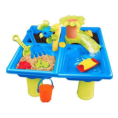 WRJ Arena Y Agua Actividades Al Aire Libre Tischspielset con Juguetes De Playa para Los Niños Juguetes para La Arena Color Al Azar para Niños Set De Juego Conjunto Arena De La Playa,1