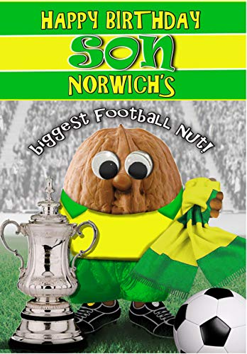 Birthday Card for Son – Norwich City - Football Sports Nut