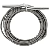 Manual Drain Pipe Auger 25' (foot) for Small to Medium Household Drains up to 2' inch in diameter