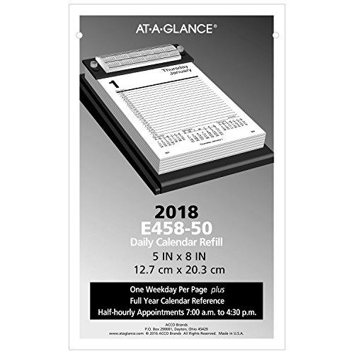 "AT-A-GLANCE Daily Desk Calendar Refill 2018, 5"" x 8"" (E45850)"