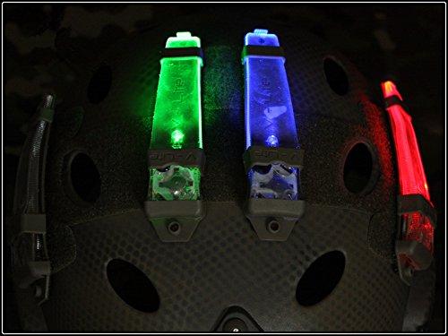 casco safty velcro V-LITE luz estroboscópica para cámping caza Luz de emergencia...