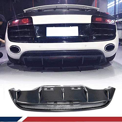 YAOXUAN Difusor Trasero de Coche, Apto para Audi R8 GT V8 V10 Coupe Spyder Cabrio 2008-2015 Fibra de Carbono Parachoques Trasero Labio Cubierta CF difusor