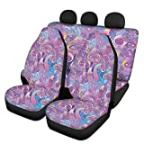 FUSURIRE Compositions Trippy Swirls Eyes Dreamlike Car Seat Cover Set for Women Front Seat Protector and Back Seat Protector Pads,Seat Cushion Auto Accessories, Universal Fit