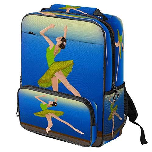 Zaino scolastico casual ballerina danza prestazioni stampa portatile zaino multi-funzionale Daypack libro cartella, Motivo: 1. (Multicolore) - backpacks013