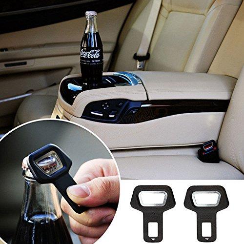 2x gancio cintura sicurezza disattiva suono allarme sedile auto apribottiglie