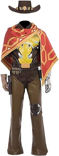 Glam Cos OW Jesse McCree M liches Cosplay-Kostüm