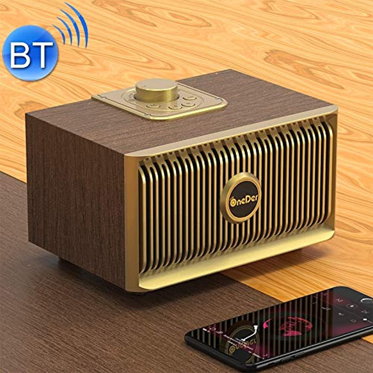 虚栄心喉が渇いた掻くShiduoone 新しいV5ポータブル無線通信のBluetoothスピーカー新、サポートハンズフリー&FM&TFカード&AUX&USBドライブ(ブロンズ) (色 : ブロンズ)