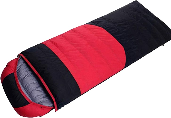 Xasclnis Sac de Couchage en Duvet pour Le Camping, la randonnée, Les Voyages (Couleur   rouge, Taille   1200g)