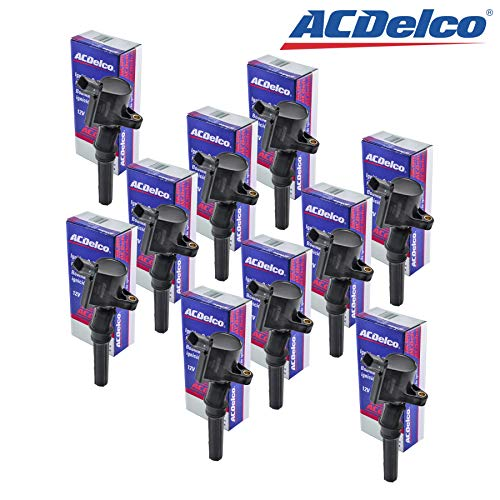 DG508 ACDELCO BS2002 Ignition Coil for Ford 4.6L 5.4L V8 DG457 DG472 DG491 CROWN VICTORIA EXPEDITION F-150 F-250 MUSTANG LINCOLN MERCURY EXPLORER DG-508 19239827 (PACK OF 10)