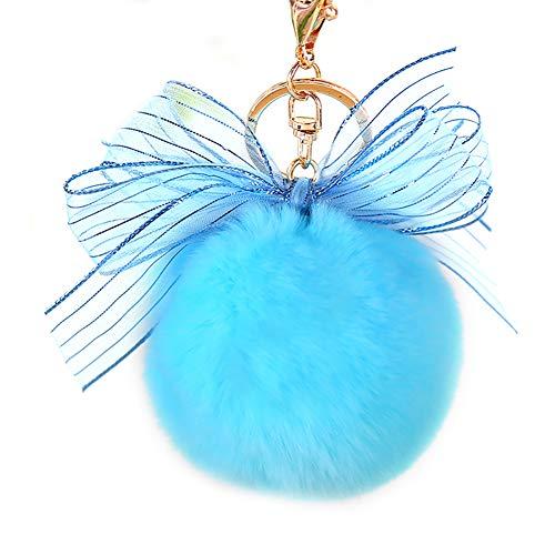 TREESTAR Schlüsselanhänger, Pompon und Schwibbogen, mit Schlüsselanhänger, Schlüsselanhänger, Schlüsselanhänger, Schlüsselanhänger, Autozubehör, für Handy, Schmuck, groß, Rot 14.4*8*8cm blau