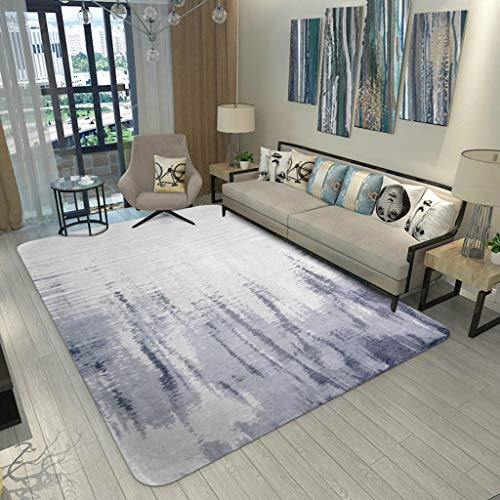 WZJ-CARPET Alfombra Rectangular Americana Sala de Estar Patrón de Tinta Alfombra de Arte Dormitorio nórdico Mesa de Centro Manta de cabecera (Color : A, tamaño : 100CM×150CM)