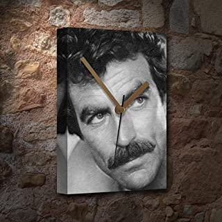 TOM SELLECK - Canvas Clock (A5 - Signed by the Artist) #js001