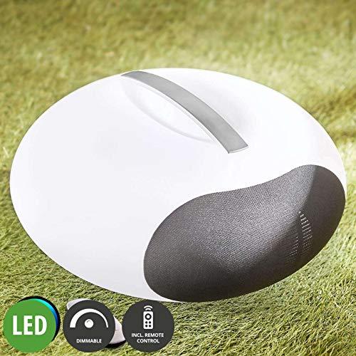 Lampenwelt LED 'Jupita' dimmbar mit Fernbedienung (Modern) in Weiß u.a. für Wohnzimmer & Esszimmer (1 flammig, A+, inkl. Leuchtmittel), Wohnzimmerlampe