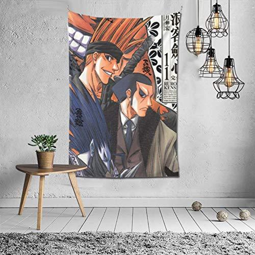 Rurouni Kenshin - Tapiz para colgar en la pared del hogar, tapices decorativos para la pared, cortina divisora de puerta de 152,4 x 101,6 cm