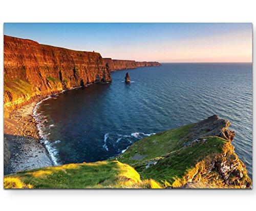Paul Sinus Art Cliffs of Moher - Sonnenuntergangsstimmung - Leinwandbild 120x80cm