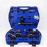 AKDSteel 18Pcs / Set Kit de probador de presión de radiador Detector de Fugas de Tanque de Agua de Coche Universal Práctico Accesorio para automóviles