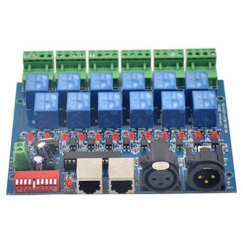 Pineapplen 12CH Interruptor de Relé Controlador Dmx512 Controlador de Relé DMX Decodificador LED para Luz