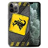 Stuff4 Gel TPU Phone Case/Cover for Apple iPhone 12 Pro Max/Godzilla Design/Funny Road Signs Collection