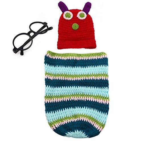 Tinksky uncinetto-Costume da bruco, Bambino di ricambio per abiti per bambini, Unisex, confezione da 3, 6 mesi
